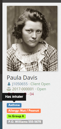 Tag Description Flag on Client Profile