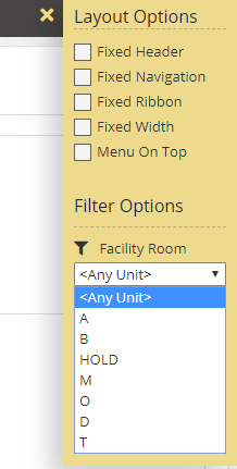 Global Filtering options